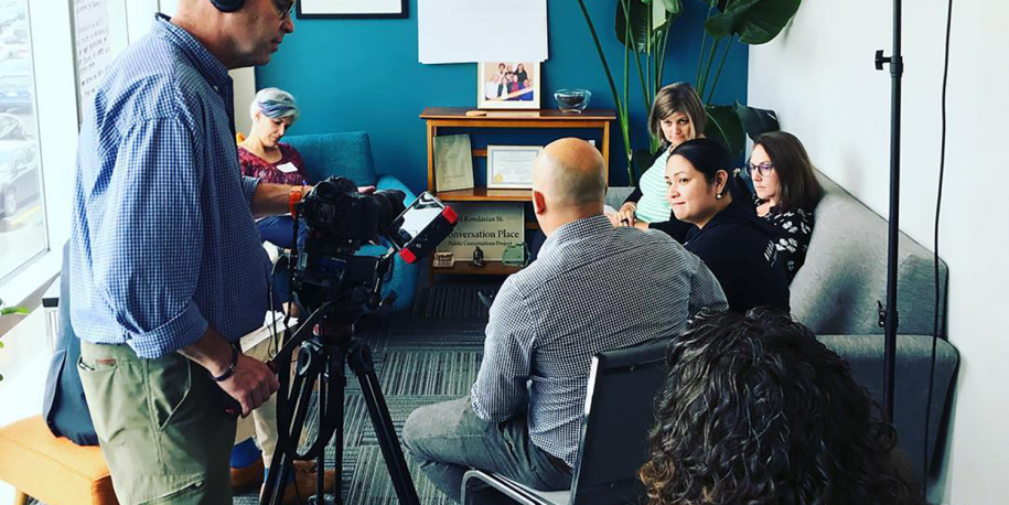 Photo: Facebook filming in the EP office